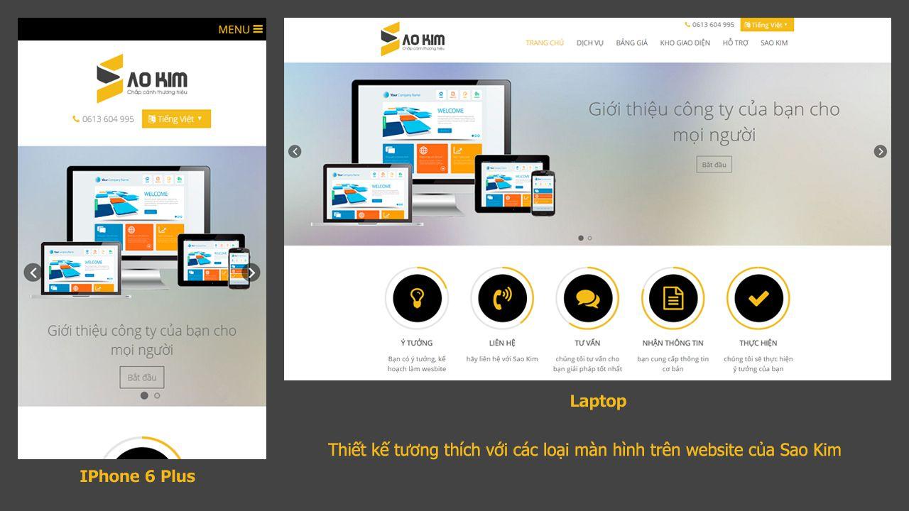 Website Sao Kim được thiết kế thân thiện với các thiết bị